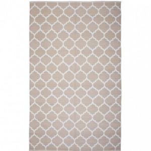 Covor reversibil Aksu, bej/alb, 160 x 230 cm
