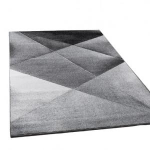 Covor Siena, polipropilena, gri/negru, 70 x 140 cm