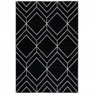 Covor Trocadero negru, 120 cm x 180 cm