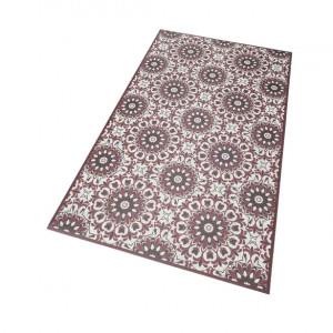 Covor vinil Mandala by My Home 65 x 100, rosu inchis
