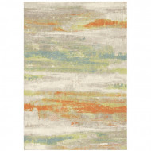 Covor Zana, portocaliu/verde, 160 x 230 cm