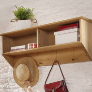Cuier Bertramcu etajera - din lemn masiv natur 100/25/38 cm