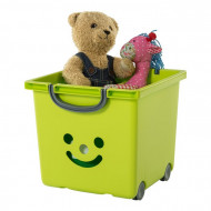 Cutie de jucărie Smiley, verde, 29 x 32 x 32 cm
