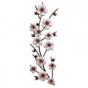 Decor floral de perete, roz, 90 x 30 cm