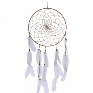 Decoratiune Dream Catcher, iuta/ pene/ margele, 33 x 5 x 90 cm