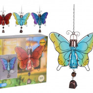 Decoratiune Fluture Kall cu lumina solara si clopotel