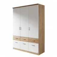 Dressing Bremen, Pal, alb /decor de stejar