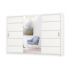 Dressing Dovelo, alb, 218 x 250 x 61 cm