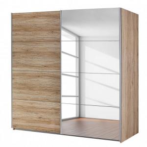 Dressing Subito 1 usa cu oglinda, decor stejar sanRemo, 181 x 197 cm
