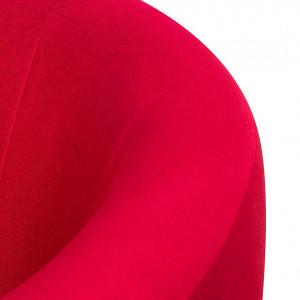 Fotoliu Marvin, tapiterie, rosu