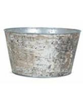 """Jardinieră rotundă Anouk din oțel, 4.25"""" H x 8"""" W x 8"""" D"""