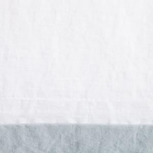 Lenjerie Smood - 135 x 200 cm + Fete de perna 80 x 80 cm - alb/gri