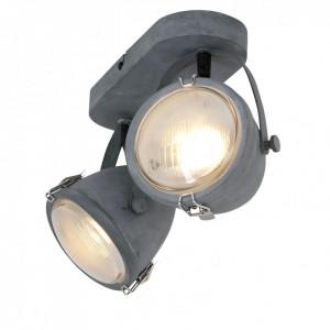 Lustra LED Mexlite otel/sticla, gri, 2 becuri, 230 V