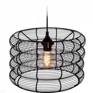 Lustra rotunda metalica Karll cu LED, 34 x 23 cm