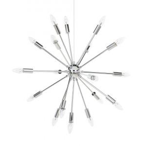 Lustra tip pendul MAGUSE, metal, argintie, 149 x 59 x 59 cm, 40w