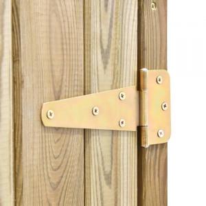 Magazie de gradina pentru scule, lemn masiv de pin, 171x123x50 cm