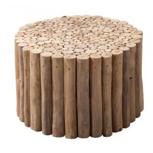 Masa de cafea Newell, lemn masiv, 41 x 80 x 80 cm