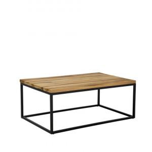 Masa de cafea PROVO II, lemn/metal, maro/negru, 40 x 60 x 100 cm