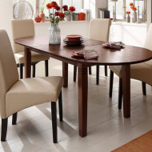 Masa din lemn masiv cu extensie Home Affaire, 200-240 x 100 x 75 cm
