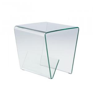 Masa laterala Bolling, transparent, 50 x 50 x 50 cm