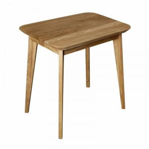 Masa laterala Dantzler, lemn masiv, maro, 75 x 50 x 75 cm