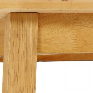 Masă Signe din lemn masiv, 75 x 75 x 75 cm