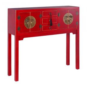 Masa tip consola, rosu, 90 x 95 x 26 cm