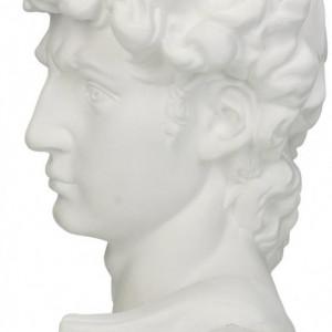 Obiect decorativ David, polyresin, alb, 17 x 30 x 13 cm