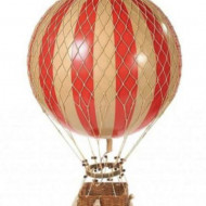 Obiect decorativ tip balon zburator rosu
