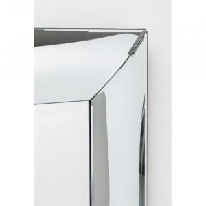 Oglinda de perete Bounce, argintie, 120 x 80 x 3,2 cm