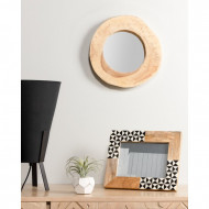Oglinda Dougherty, lemn, maro, 28 x 28 x 4 cm