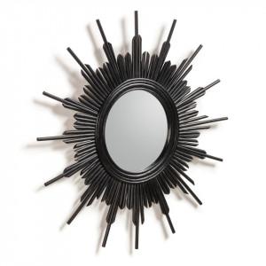 Oglinda Wimberley, finisaj negru, 70 x 70 x 3 cm