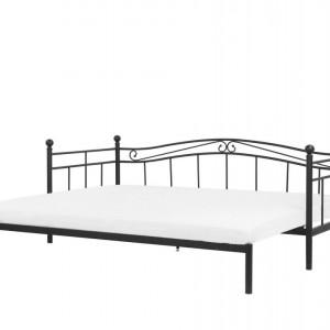 Pat tip divan Tulle, negru,86 x 92 x 209 cm