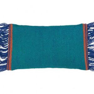 Perna decoretiva dreptunghiulara Frange, albastru