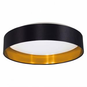 Plafoniera LED Maserlo IV -  tesatura/otel - negru/auriu
