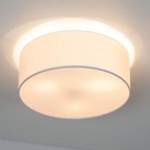 Plafoniera Summa II tesatura/metal, alb, 3 becuri, 220 V, diametru 50 cm