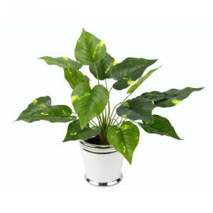 Planta artificiala, plastic, verde, 46 x 24 x 24 cm