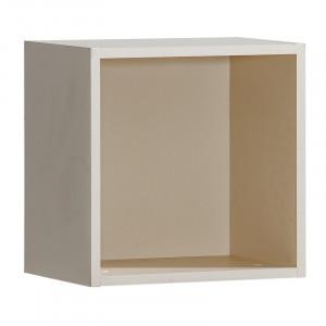 Raft de perete Eve, sampanie, 37,5 x 37,5 x 27,5 cm