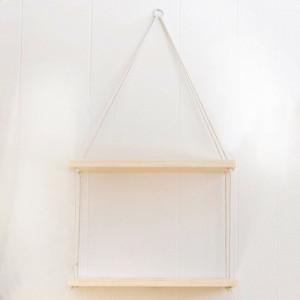 Raft de perete Sherwin, maro, 40 x 13 x 1,6 cm
