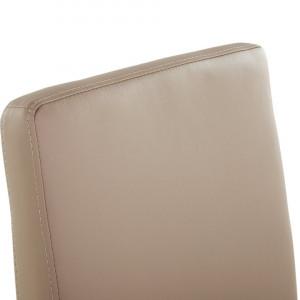 Scaun ARCTIC din piele sintetica bej cu rama neagra