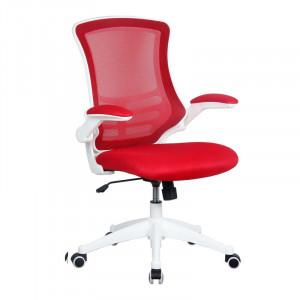 Scaun de birou Isabel Mesh, roșu, 50cm L x 50cm D