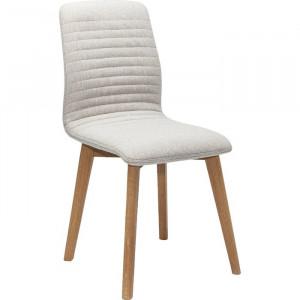 Scaun Lara, lemn/poliester, alb, 92 x 44 x 40 cm
