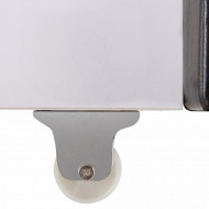 Sertar Maja lemn masiv de pin/piele sintetica, maro inchis/alb, 190 x 23 x 60 cm