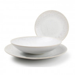 Serviciu de cină, 12 bucati, portelan, alb