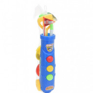 Set de 11 piese de golf Karll pentru copii plastic, rosu/galben/albastru