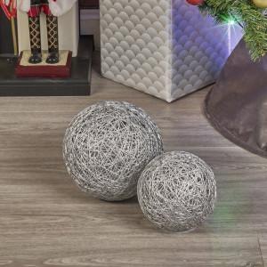 Set de 2 lampi Ball Light, argintiu