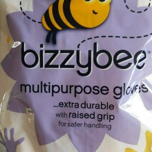 Set de 2 perechi manusi de cauciuc Bizzybee marimea L, galben