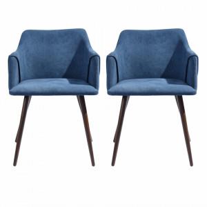 Set de 2 scaune Aldridge, albastru, 75 x 51 cm