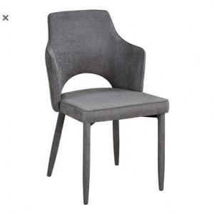 Set de 2 scaune Alhena, gri deschis, 60x52x84.5cm