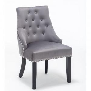 Set de 2 scaune Brunilda, gri, 94 x 60 cm